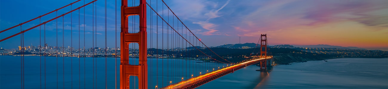 Banner - San Francisco Bridge with view of the city